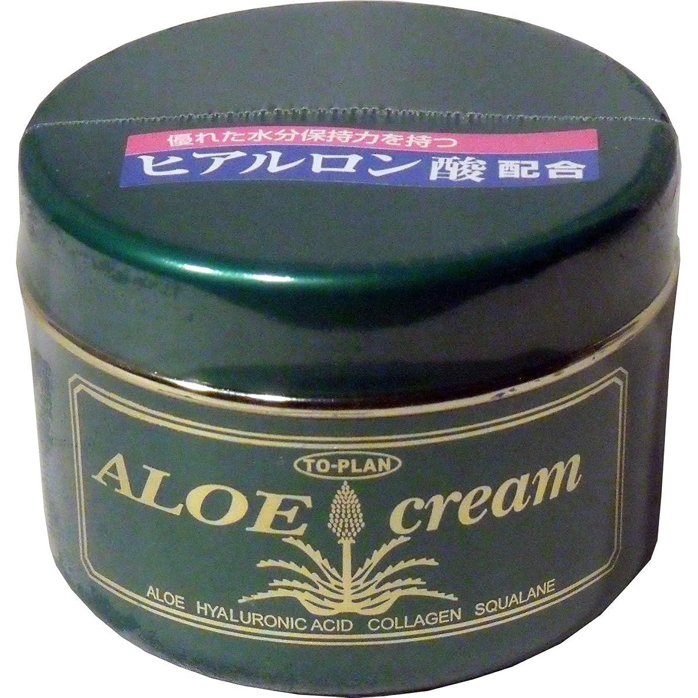 遅滞幼児振動させるトプラン ハーブフレッシュクリーム(アロエクリーム) ヒアルロン酸 170g ×10個セット