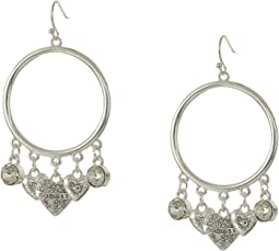 Gypsy Hoop Dainty Charm Drops Earrings