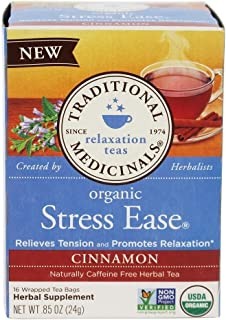 Traditional Medicinals Tea Cinnamon Stress Ease Organic, 16 Count