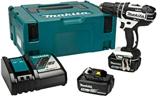Makita DHP482RTWJ 18V Li-ion LXT Combi Drill Complete with 2 x 5.0 Ah Batteries and Charger Supplied in a Makpac Case