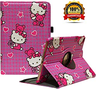 iPad Mini 4 Case - 360 Degree Rotating Stand Case Cover with Auto Sleep/Wake Feature for iPad Mini 4 (Mei red cat)