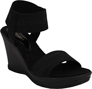 Catwalk Women's Black Fashion Sandals