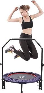 comprar comparacion Mini cama elástica Pleny para fitness de interior con mango, 2en 1, para ejercicios aeróbicos con saltos,96,5cm.