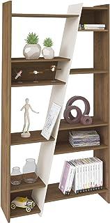 Artely Zap Shelf, Pine Brown with Off White - W 93 cm x D 30 cm x H 179 cm, pine brown/off white