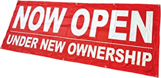 4Less 3x8 Now Open Under New Ownership Banner Vinyl Alternative Sign rb- Fabric