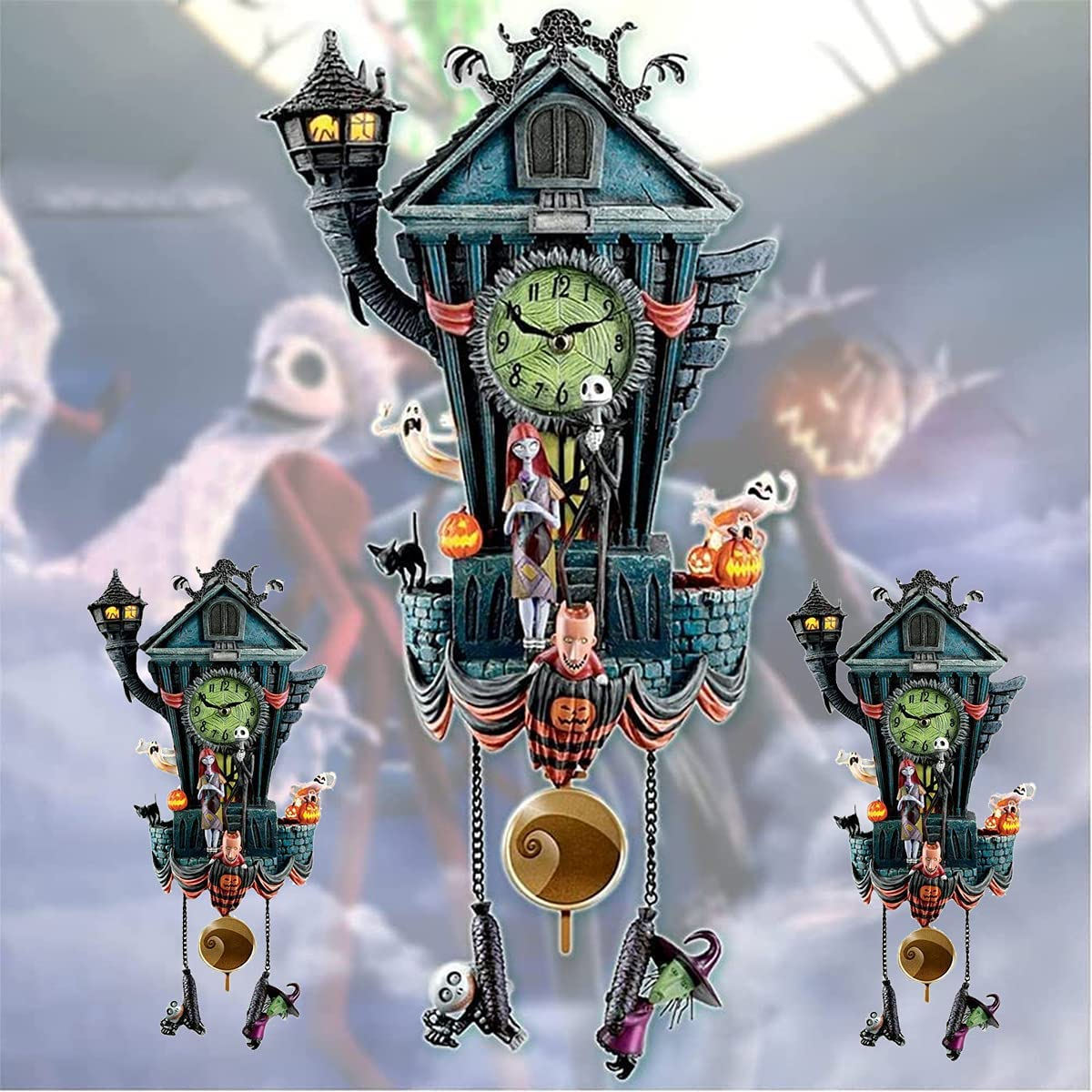 Wall Clock Cuckoo New Large-scale sale Orleans Mall Paper Ornaments Halloween Disne for