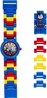 LEGO DC Comics Super Heroes 8020257 Orologio da polso componibile per bambini con cinturino a maglie e minifigure Superman
