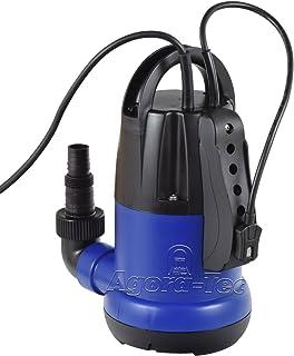 Agora-Tec Agora-Tec AT-Tauchpumpe clear water 250W-vario flachsaugend auf 1 cm mit Sensortechnik integrierter Schwimmerschalter