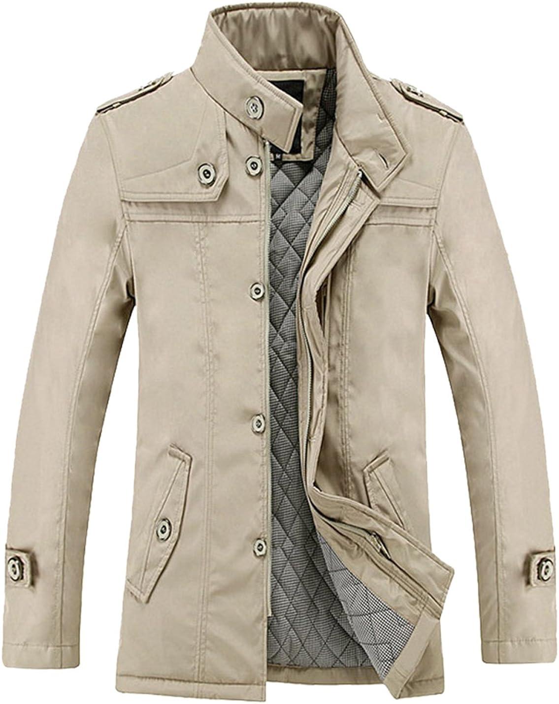 Lentta Men's Casual half Mid Long Winter Slim Warm Zipp Padded Cotton Weekly update