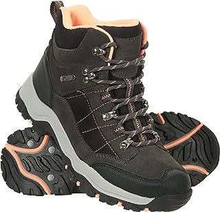 Mountain Warehouse Navigate Womens Waterproof Walking Boots - Suede & Mesh Upper, EVA Cushioned, Heel & Toe Bumpers - Best...