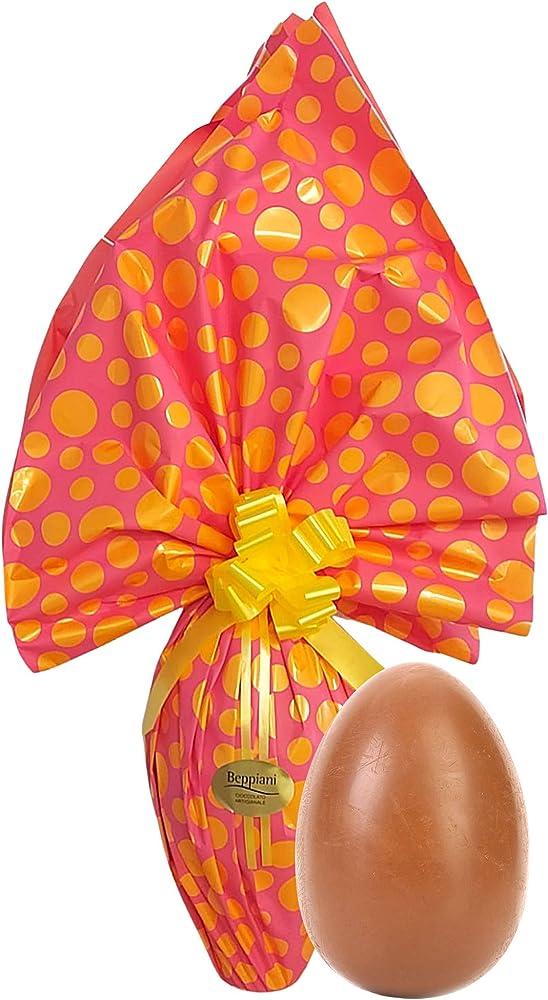 Beppiani, uovo di pasqua al cioccolato al latte (1kg),prodotto artigianale