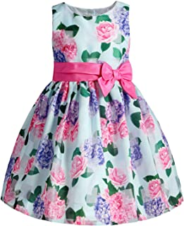 ReliBeauty Girls Sleeveless Plaid Dress Pleated Waist
