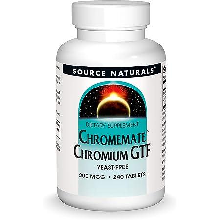 Source Naturals ChromeMate Chromium GTF 200 mcg Yeast-Free Dietary Supplement - 240 Tablets
