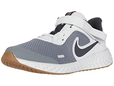 Nike Kids SINGLE SHOE FlyEase Revolution 5 (Little Kid) (Light Smoke Grey/Dark Smoke Grey/Photon Dust) Kid