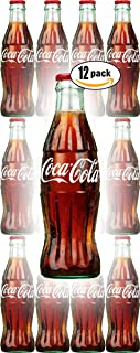 Coca-Cola, 8 Fl Oz Glass Coke Bottle (Pack of 12, Total of 96 Oz)