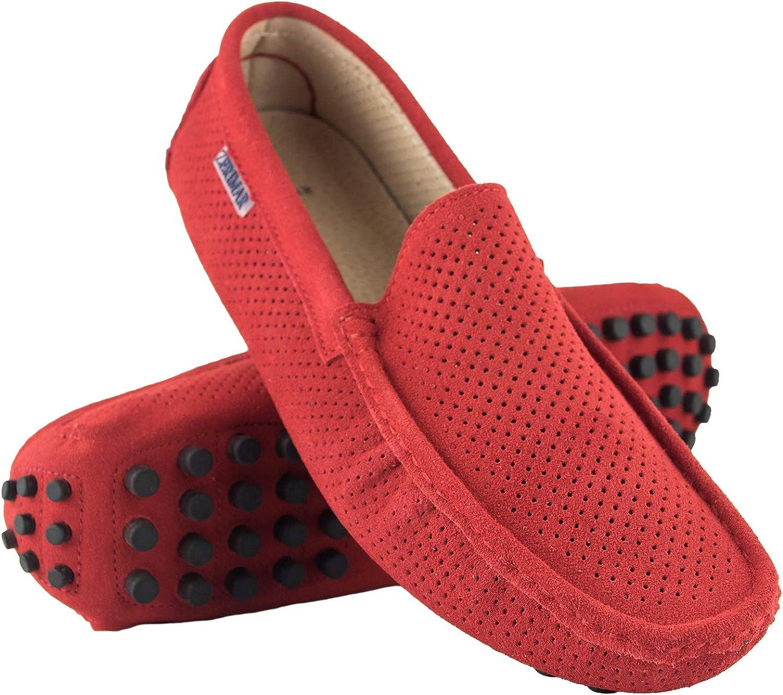 Zerimar Mocassins Men   Men Loafers shoes Casual   Leather Mocassins Mens   shoes Moccasins Mens Loafers   Men's Loafers Red