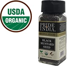 Pride Of India - Organic Black Mustard Seed Whole -3 oz(85 gm) Dual Sifter Jar Certified Pure Indian Vegan Spice, Best for Pickling, Chutney- BUY 1 GET 1 FREE (MIX AND MATCH-PROMO APPLIES AT CHECKOUT)