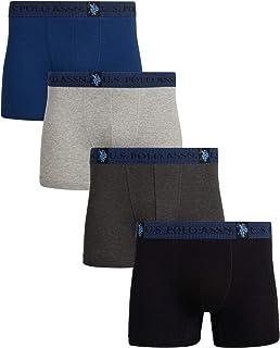 U.S. Polo Assn. Men's Cotton Boxer Briefs (4 Pack)