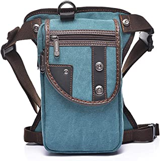 Hebetag Outdoor Motorcycle Bike Drop Leg Bag for Men Women Thigh Waist Fanny Pack Mens Multi-Function Outdoors Travel Sports Riding Cycling Fishing Camping Hiking