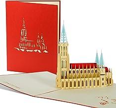 3D Pop Up Karte, Grußkarte Ulmer Münster, Reisegutschein,