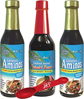 Coconut Secret Coconut Aminos Bundle - Includes (2) COCONUT AMINOS SOY-FREE SAUCE, 8 fl Oz and (1) COCONUT AMINOS TERIYAKI...