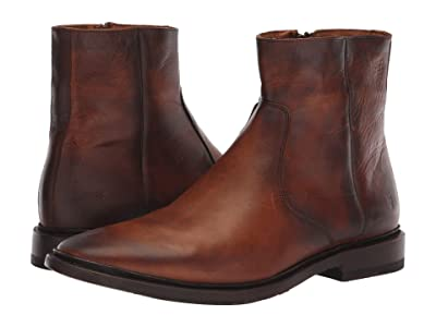 Frye Paul Inside Zip (Cognac Antique Pull-Up) Men