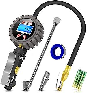 Oasser Manómetro Presión Neumáticos Digital 0-18bar Manómetro Inflador Neumáticos para Compresor Medidor Presión Neumáticos Profesional Portátil para Coche Moto Bicicleta y Camión 0-255psi P5
