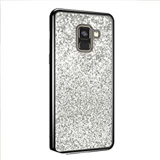 Glitter Bling Phone Case for Samsung Galaxy A8 2018 J2 J4 J6 2018 S8 S9 A3 A5 A7 J7 J3 J5 2018 2018 2018 Back Cover Case Soft,xing3 Silver,A5 2018