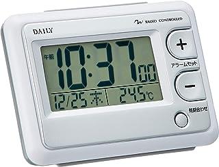 目覚まし時計 電波時計 温度計付き ジャストウェーブR095DN 白 DAILY 8RZ095DN03