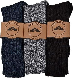 3 Pairs of Mens Thick & Warm Heavyweight Socks - Wool Blend
