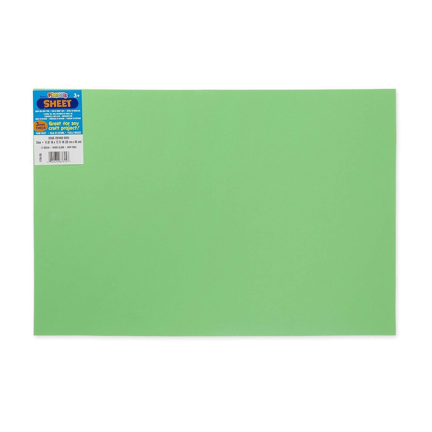 Foamies 12 Inch x18 Inch 3mm Foam Sheet-Lt Green