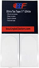bowlingballfactory.com Ultra Tac Bowling Thumb Tape 36 Pre-Cut Pieces_White Textured or Black Smooth