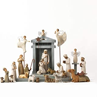 Willow Tree Nativity Premier Plus Elevated Angels, 25-Piece Sculpted Figure Set