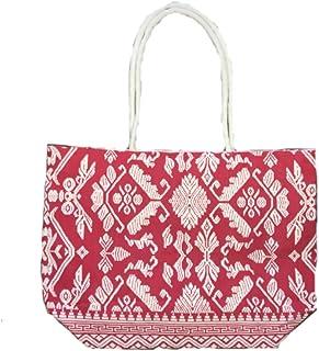Vintage Interior Damen Casual Umhänge Schulter Henkel-tasche Strand Beach-bag Azteken-Muster Fransen