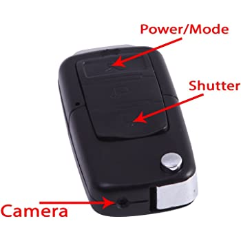 RFV1™ HD Keychain Spy Camera While Recording No Light Flashes .HD Sound Quality .32GB Memory Supportable Audio/Video Recording