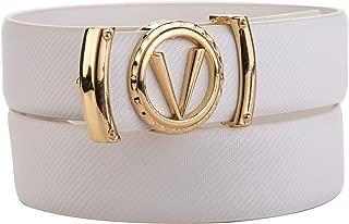 Mens Fashion Letter G Z V Gold Buckle Comfort Fit Leather Belt