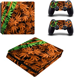 Toys BY060198 Stylish Plant Stickers Protective Film For PS4 Slim
