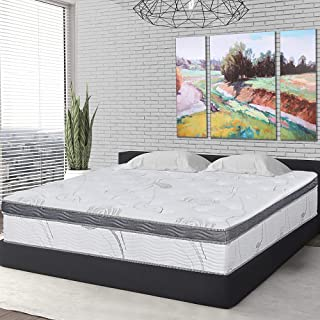 Olee Sleep 12 in Pegasus Euro Box Top Spring Mattress Full 12SM01F