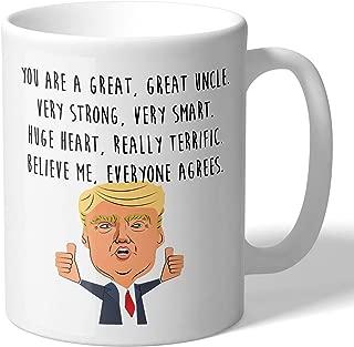 MugBros Funny Great Uncle Donald Trump Novelty Prank Gift 11 Ounce Coffee Mug (Uncle Mug)