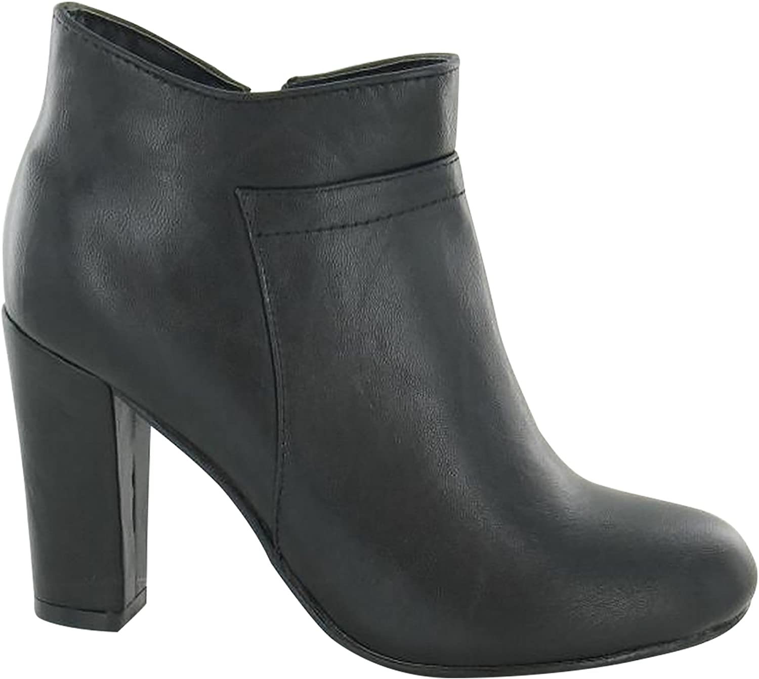 Spot On Womens Ladies Zip Up Heeled Ankle Boots