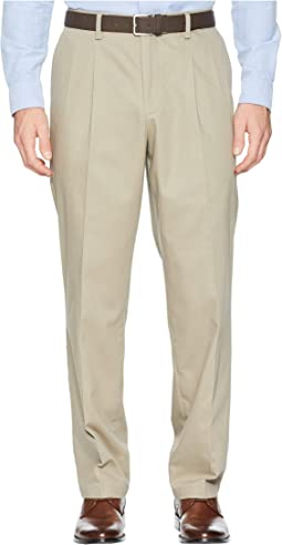 Classic Fit Signature Khaki Lux Cotton Stretch Pants D3 - Pleated