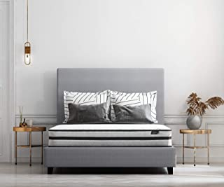Ashley Furniture Signature Design - 10 Inch Chime Express Hybrid Innerspring - Firm Mattress - Bed in a Box - California King – White