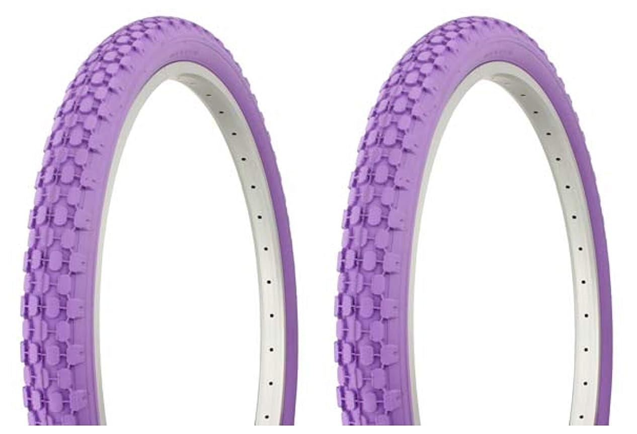 傀儡液化する着実にLowrider タイヤセット 2タイヤ 2タイヤ デュロ 26インチ x 2.125インチ パープル/パープル サイドウォール HF-851 自転車タイヤ 自転車タイヤ ビーチクルーザー バイクタイヤ クルーザーバイクタイヤ