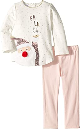 Christmas Santa Tunic and Leggings Two-Piece Playwear Set (Toddler)