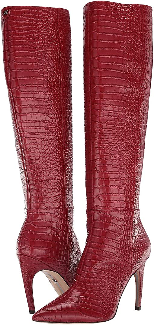 Spiced Mahogany Kenya Croco Embossed Leather
