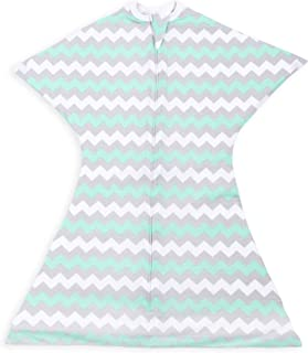Chevron Mint Swaddle Transition Zipadee-Zip, Small 4-8 Months (12-19 lbs, 25-29 inches)