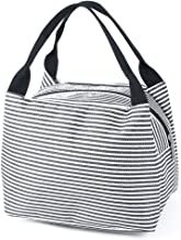 uxcell Outdoor Stripes Zipper Portable Insulated Thermal Cooler Lunch Bag Picnic Carry Tote Container