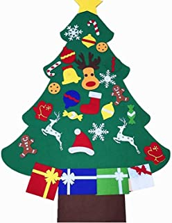 Vlovelife 3ft Felt Christmas Tree + 26pcs Detachable Hanging Ornaments Xmas Party Home Decor Kids DIY Xmas Gift - Style B