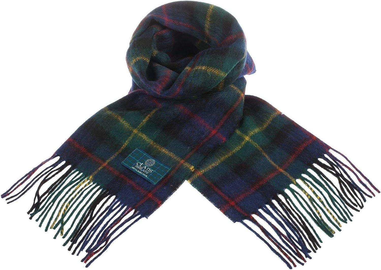 Clans Of Scotland Pure New Tartan Scarf Scottish Charlotte Mall Farquharso Max 55% OFF Wool