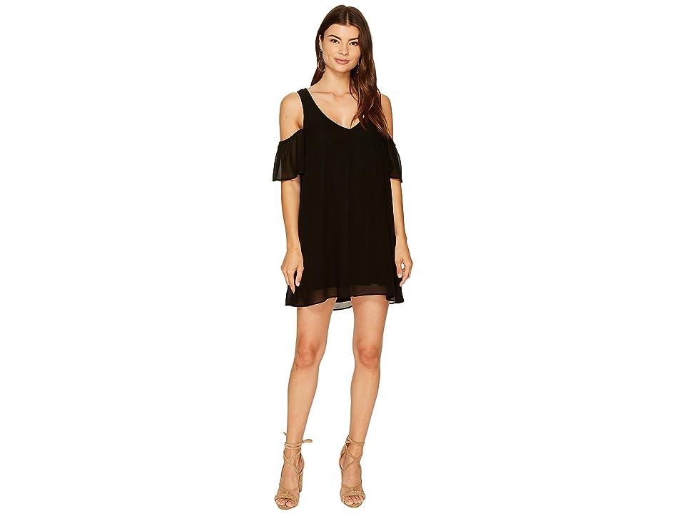 Show Me Your Mumu Birdie Ruffle Dress (Black Chiffon) Women